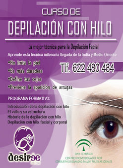 Curso Depilación al Hilo en Academia Desirée y Desirée The Art of Beauty